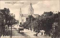 Postcard Kaunas Kowno Kauen Litauen, Eichhorn Straße