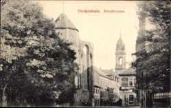 Ansichtskarte / Postkarte Großenhain in Sachsen, Blick auf einen Teil der Klosterruine