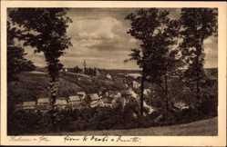 Ansichtskarte / Postkarte Diera Zehren Kreis Meißen, Panoramablick auf die Ortschaft