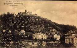Ansichtskarte / Postkarte Radebeul, Blick auf Berggasthaus Friedensburg