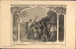 Künstler Ak Ligue Francaise de l'Enseignement, Diplôme commemoratif, Fête 1904