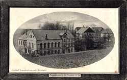 Passepartout Ak Augustusberg Nossen Landkreis Meißen, Gasthof mit Rittergut