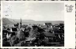 Postcard Hammelburg im Tal der Fränkischen Saale, Ortschaft mit Schloß Saaleck
