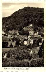 Postcard Eschenbach Fränkische Alb, Höheluftkurort, Stadtpanorama, Waldhang