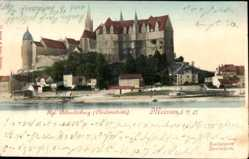 Ansichtskarte / Postkarte Meißen, Blick auf Burgberg, Albrechtsburg, Dom