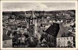 Ansichtskarte / Postkarte Meißen, Blick auf die Altstadt mit Frauenkirche