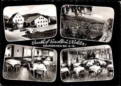 Postcard Neukirchen bei Sulzbach, Gasthof Saalbau Kohler, Inh. G. Kohler, Innenansicht