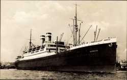 Postcard Dampfschiff Hamburg, HAPAG, Vor Anker im Hafen