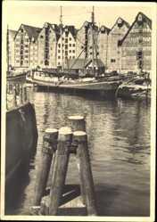 Ak Kaliningrad Königsberg Ostpreußen, Speicher am Hundegatt, Segelboot