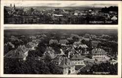 Postcard Grafenwöhr im Oberpfälzer Hügelland Bayern, Truppenlager, Totalansicht