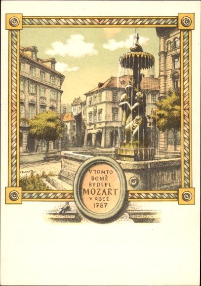 Artist Postcard Praha Prag, Stare Mesto, Hostinec U tri | akpool co uk