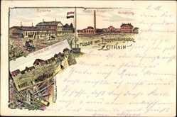 Litho Zeithain in Sachsen, Truppenübungsplatz, Baracke, Waschanstalt, Verwaltung