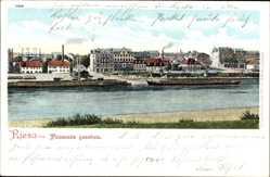 Ansichtskarte / Postkarte Riesa an der Elbe Sachsen, Blick auf den Ort von Promnitz gesehen
