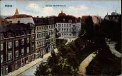 Ansichtskarte / Postkarte Riesa an der Elbe Sachsen, Kaiser Wilhelmplatz, Gebäude