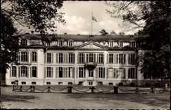 Postcard Leverkusen in Nordrhein Westfalen, Blick auf Schloss Morsbroich, Fassade
