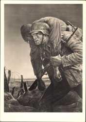 Künstler Ak Will, Tschech, Kameraden, HDK 114, Wehrmachtsoldaten