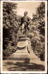 Postcard Stralsund Mecklenburg Vorpommern, Blick auf das Schill Denkmal