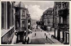 Ak Grudziądz Graudenz Westpreußen, Blick in die Marienwerderstraße, Geschäfte