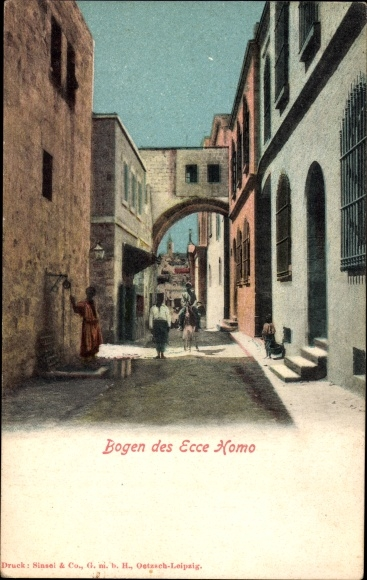 Jerusalem Israel, Torbogen des Ecce Homo, Häusergasse
