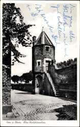 Postcard Zons Dormagen Niederrhein, Partie am alten Wachtürmchen
