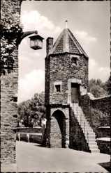 Postcard Zons Dormagen Niederrhein, Partie am Wachtürmchen