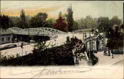 Postcard Mannheim in Baden Württemberg, Blick auf die Lindenhofüberführung