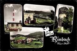 Postcard Rimbach im Kreis Cham Oberpfalz Bayern, Sender, Totalansicht, Burgruine