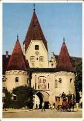 Postcard Weißenhorn Neu Ulm in Schwaben, Straßenpartie mit Blick auf Oberes Tor