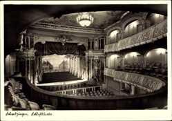 Postcard Schwetzingen im Rhein Neckar Kreis, Schlosstheater, Innenansicht, Bühne