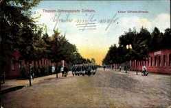 Ansichtskarte / Postkarte Zeithain in Sachsen, Truppen Übungsplatz, Kaiser Wilhelm Straße