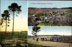 Ansichtskarte / Postkarte Zeithain in Sachsen, Truppen Übungsplatz, Übung im Freien