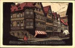 Steindruck Ak Esslingen am Neckar Baden Württemberg, Pliensaustraße