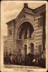 Judaika Ak Vilnius Wilna Litauen, Eingang in die Neue Synagoge