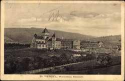 Postcard St. Wendel in Saarland, Blick auf das Missionshaus, Südansicht, Berg