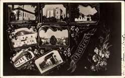 Postcard Oroszvar Slowakein, Kastely, Kolostor, Zarda iskola, Schule, Gebäude
