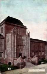 Postcard Mannheim in Baden Württemberg, Portal der Kunsthalle, Jubiläumsausstellung
