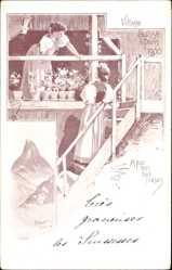 Künstler Ak Paris, Expo, Weltausstellung 1900, Village Suisse, Appenzelloises