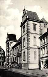 Postcard Merzig an der Saar im Kreis Merzig Wadern, Rathaus, erbaut als Jagdschloss