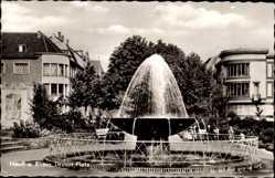 Postcard Neuss in Nordrhein Westfalen, Blick auf den Drusus Platz, Springbrunnen