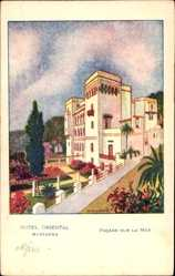 Künstler Ak Bouchard, Mustapha Algerien, Hotel Oriental, Facade sur la Mer