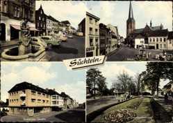 Postcard Süchteln Viersen in Nordrhein Westfalen, Krefelder Straße, Omnibusbahnhof