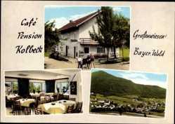 Postcard Grafenwiesen Bayer. Wald, Café Pension Kolbeck, Totalansicht