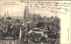 Postcard Regensburg an der Donau Oberpfalz, Blick auf den Dom vom Obermünsterturm