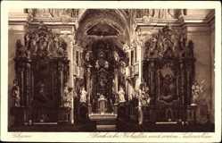 Postcard Cham am Fluss Regen Oberpfalz, Pfarrkirche, Hochaltar, vorderer Steinaltar