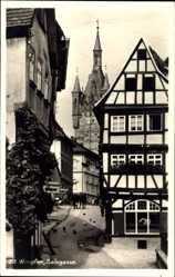 Ak Bad Wimpfen am Neckar Kreis Heilbronn, Salzgasse, Fachwerkhaus, Turm