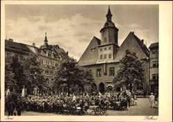 Studentika Ak Jena in Thüringen, Partie am Rathaus, Studentischer Frühschoppen