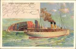 Künstler Litho Linde, Wladimir, Salonschnelldampfer Silvana,HAPAG Seebäderdienst