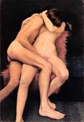 Ansichtskarte / Postkarte Junges Liebespaar beim Geschlechtsverkehr, Aktfotographie