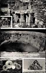Postcard Eining Neustadt Donau, Römerkastell Abusina, Hohlziegel, Kaltwasserwanne
