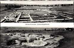 Postcard Eining Neustadt Donau, Römerkastell Abusina, Militärprincipia, Ruinen